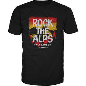 Alprausch Rock the Alps T-shirt Heren, black